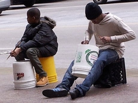 Bucket brigade in Chicago #LoveThisCity #CBias