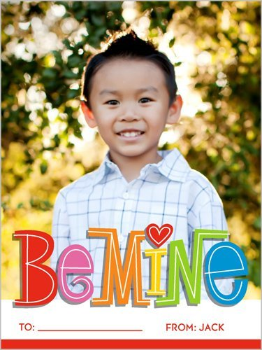 Be Mine classroom Valentine card from Shutterfly