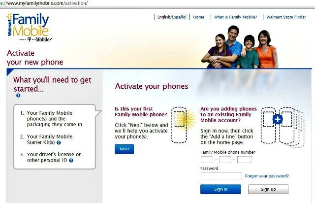 First step in activating #FamilyMobileSaves