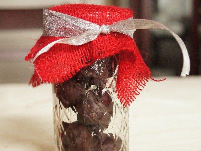 Mason jar brownie batter truffles