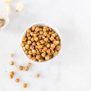 Savory Snack: Crispy Garlic-Spiced Roasted Chickpeas
