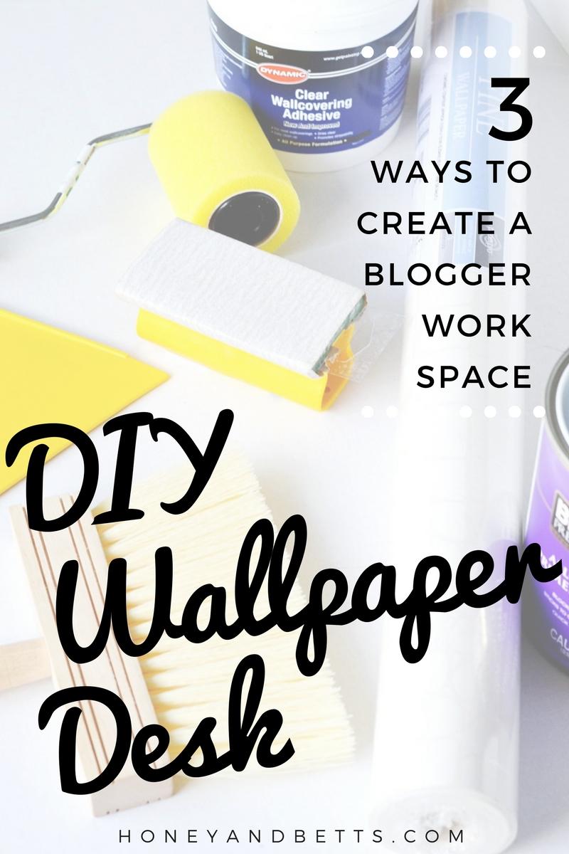 DIY Wallpaper Desk