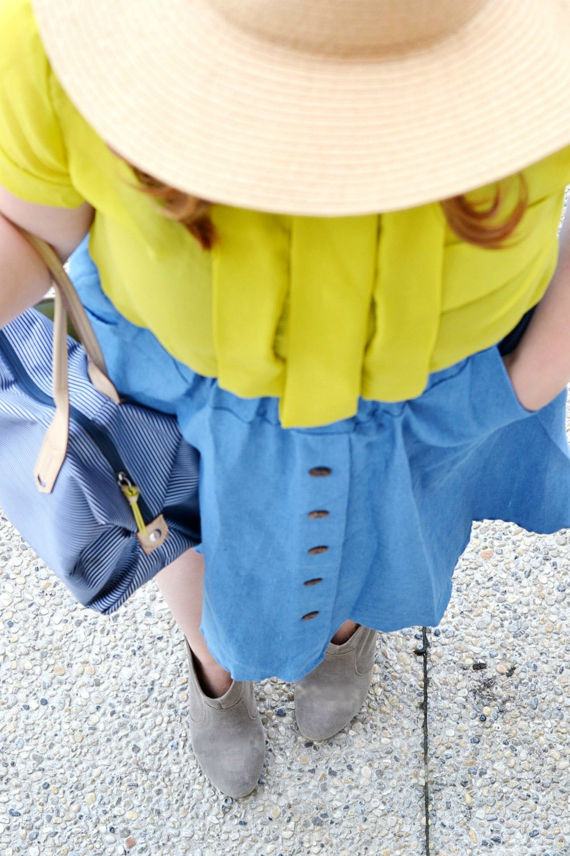 Denim skirt style, Edmonton Blogger