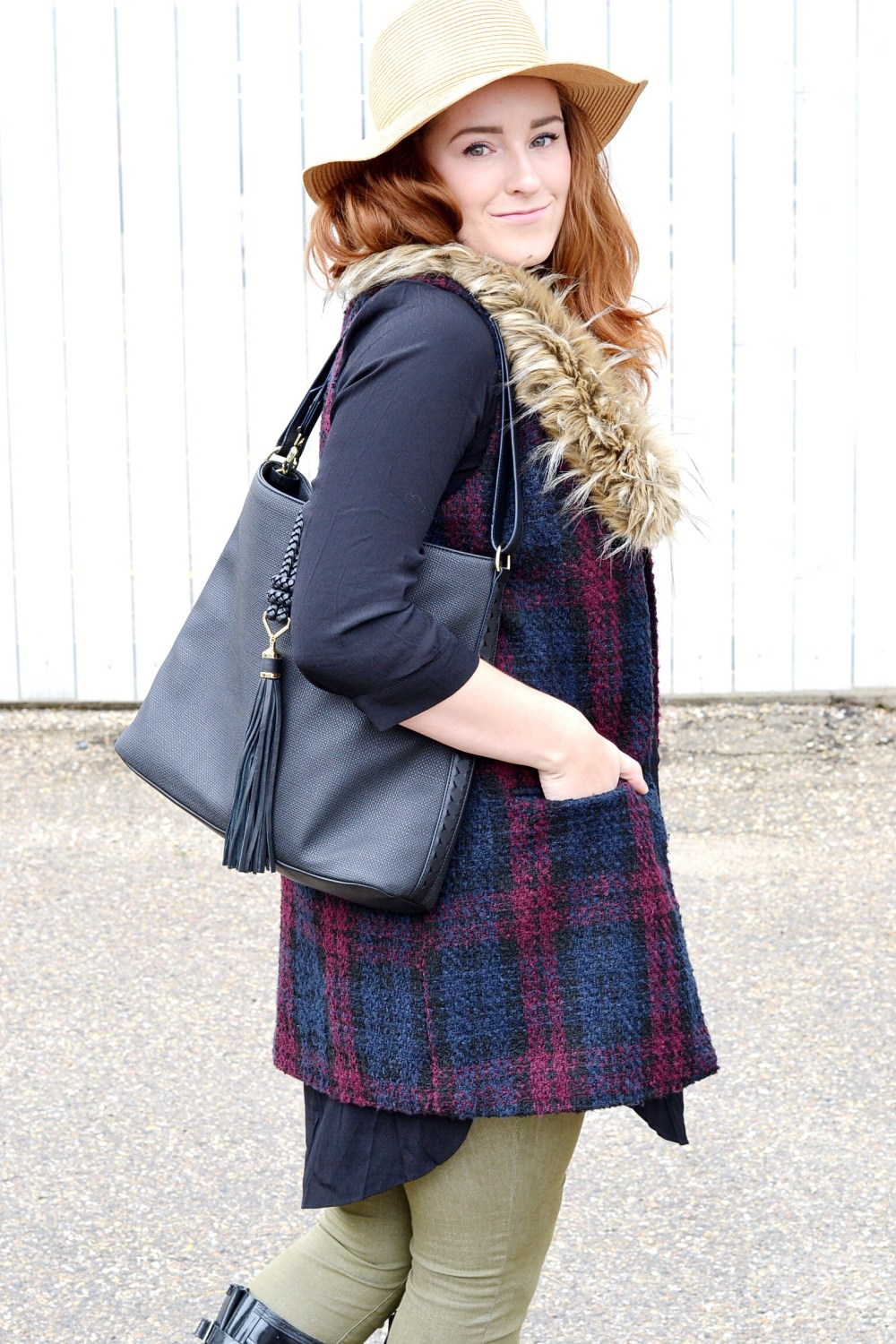 Faux Fur Vests For Fall On Honey & Betts Blog