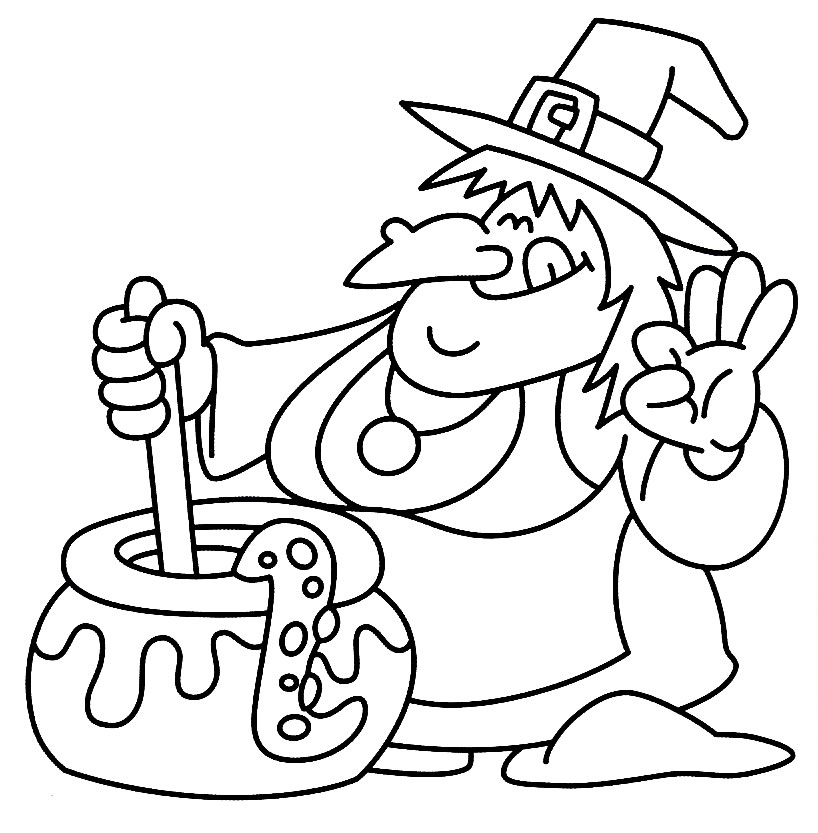 24 Free Printable Halloween Coloring Pages for Kids - Print Them All! - halloween coloring book pages