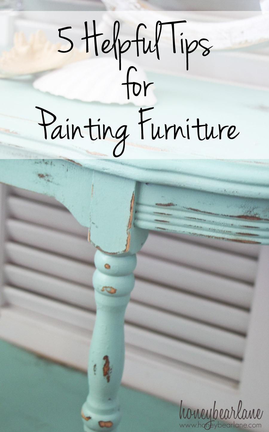 5 tips for painting furniture honeybear lane