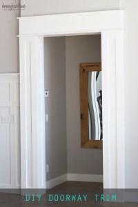 DIY Doorway Trim - HoneyBear Lane