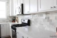 My DIY Marble Backsplash - HoneyBear Lane