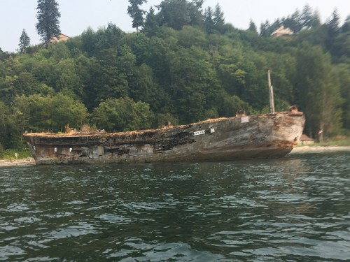 Ship was brought here to salvage the metal.