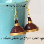 Tutorial – How to Make Paper Quilled Jhumka / Umbrella Earrings