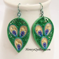 The gallery for --> Quilling Designs Peacock Earrings