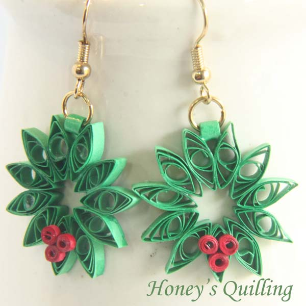 how to make quilling earrings jhumkas step by step