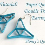 How to Make Double Triangle Paper Quilling Earrings – Free Tutorial