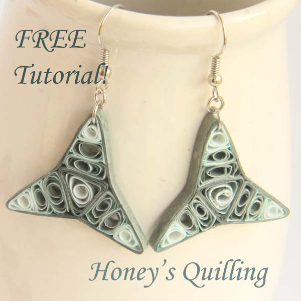 Dark blue cosmic paper quilled earrings make your own for How to make your own quilling paper