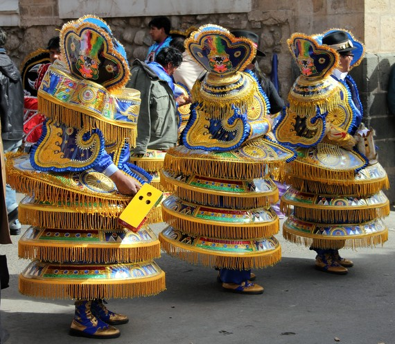 Costumes at Parade in Potosi Bolivia