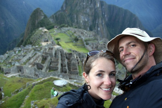 Mike and Anne Howard over Machu Picchu Peru trek