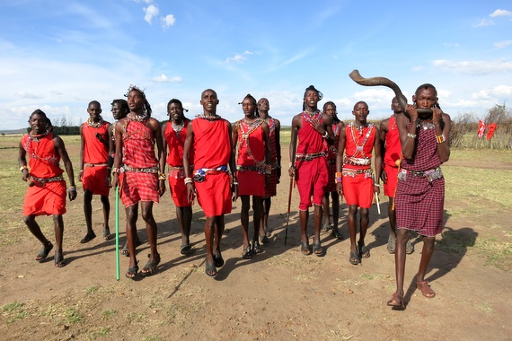 Masai tribal dance and rituals, Kenya