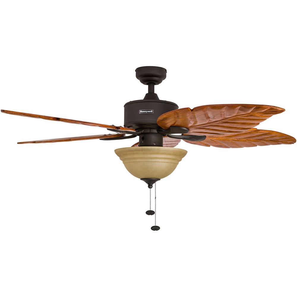Honeywell Sabal Palm Ceiling Fan, Bronze Finish, 52 Inch