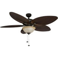 Honeywell Palm Island Ceiling Fan, Bronze Finish, 52 Inch