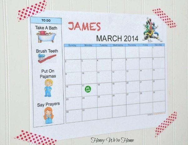 Toddler Chore Chart Honey We\u0027re Home - chore chart online