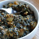 Yet another version of… Aloo Palak (Potatoes cooked with chunky Spinach)
