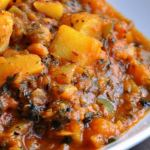 My Divine… Aloo Shimla Mirch Aur Tamatar Ki Subzi (Potatoes & Green Pepper cooked in a Tomato Fenugreek Gravy)