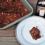 Cointreau Walnut Brownies flavored with Orange Liqueur