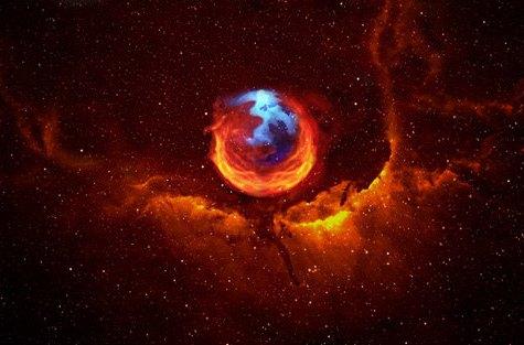 Constelación fondo firefox