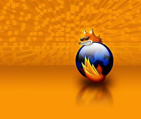 fondo naranja cubos firefox