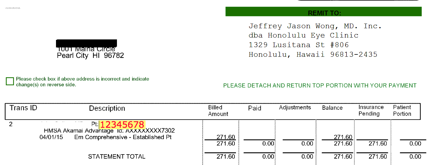 email invoice example