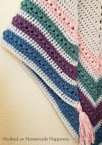 The Spring Shawl Crochet Pattern | Hooked on Homemade ...