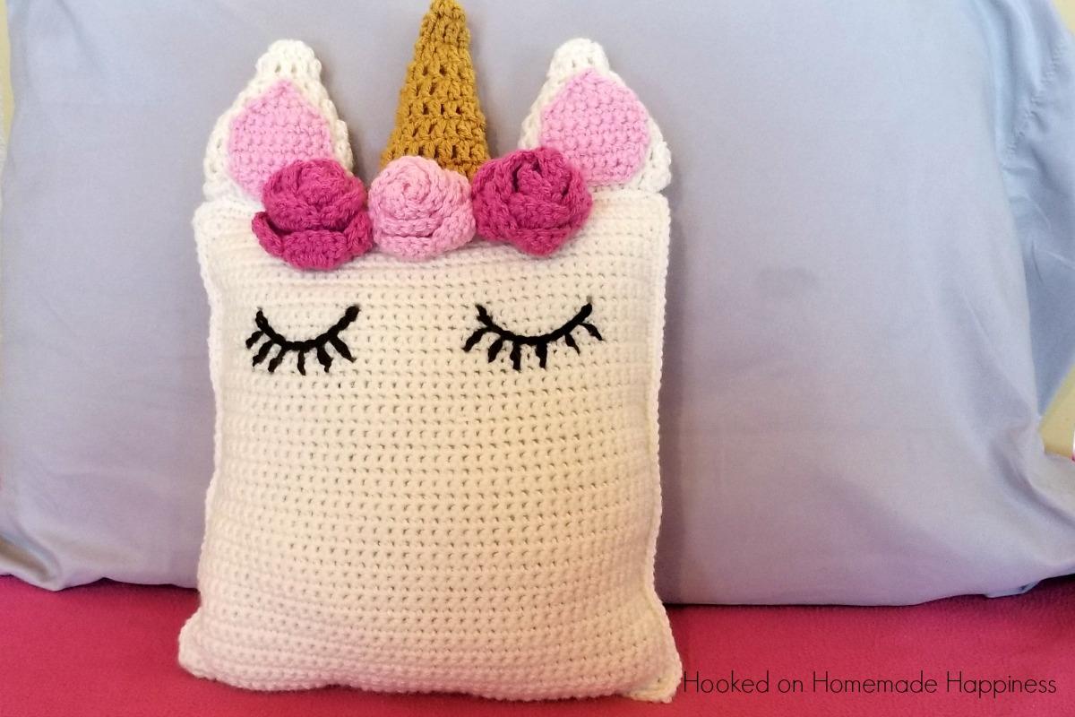 Unicorn Pillow Friend Crochet Pattern Hooked On Homemade
