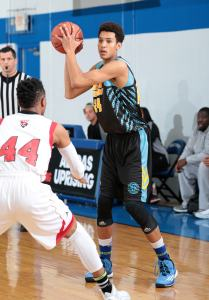 Brendan Bailey of Dream Vision during Friday night's action. (Photo by Kelly Kline/Adidas)