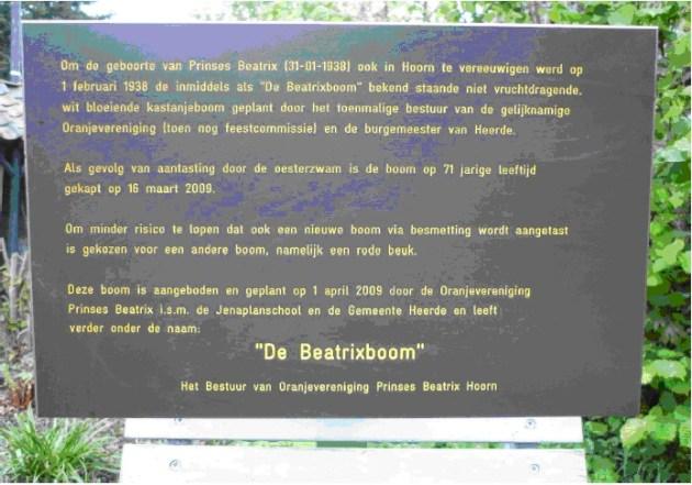 informatiebord Beatrixboom