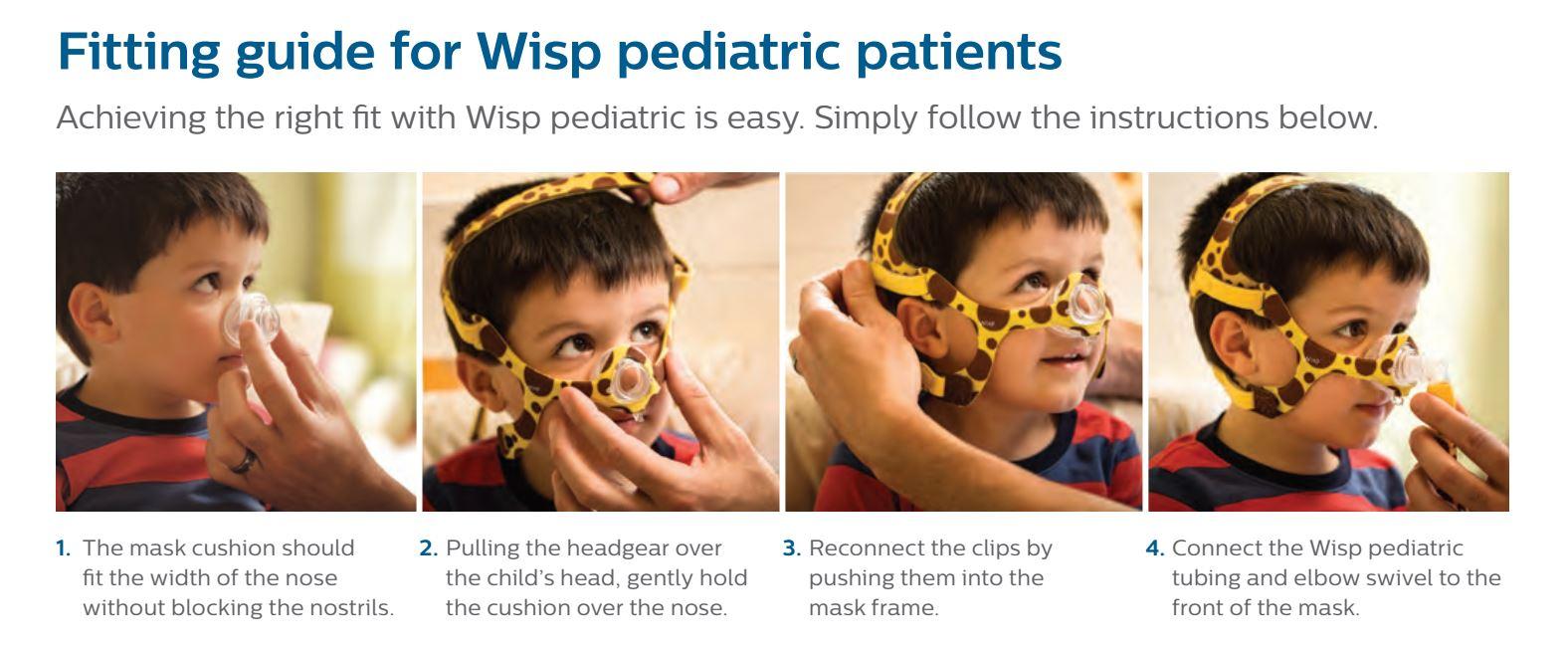 Wisp Paediatric Child Nasal Mask Hope 2 Sleep