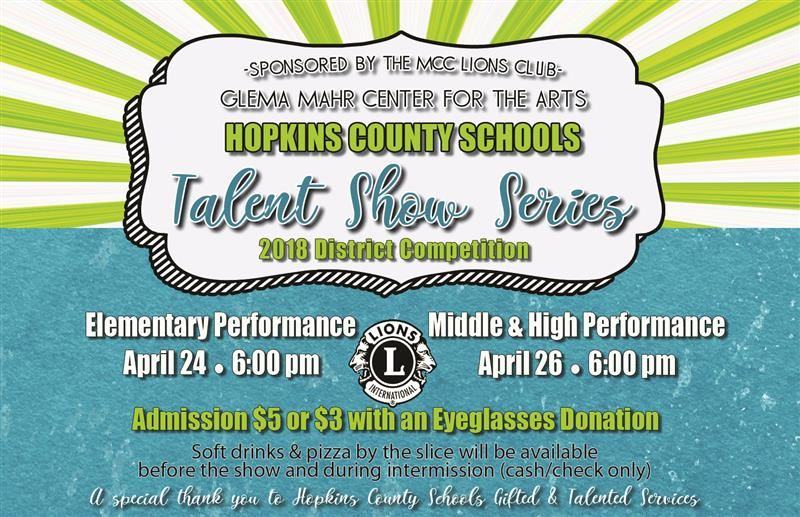 District Talent Shows - April 24  26