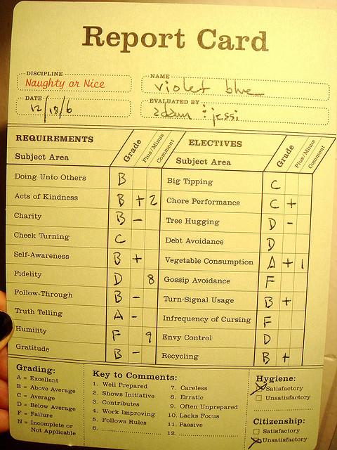 Report Card Horeb International - report card