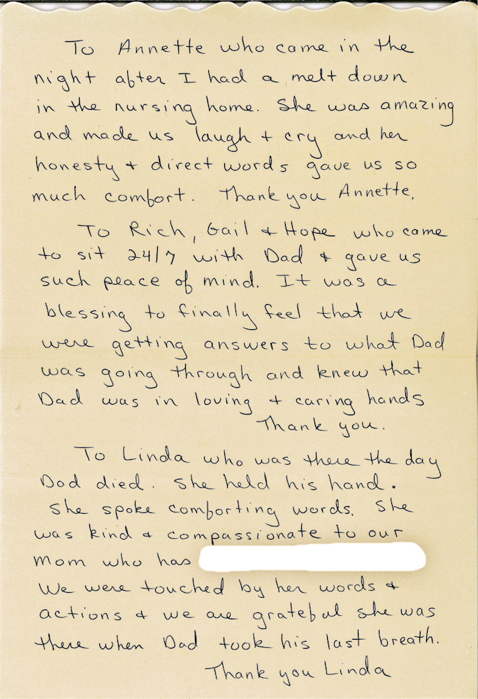 Read Beautiful Thank-You Note Written by Daughter of Horizon