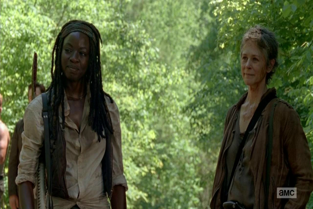 6. Carol and Michonne