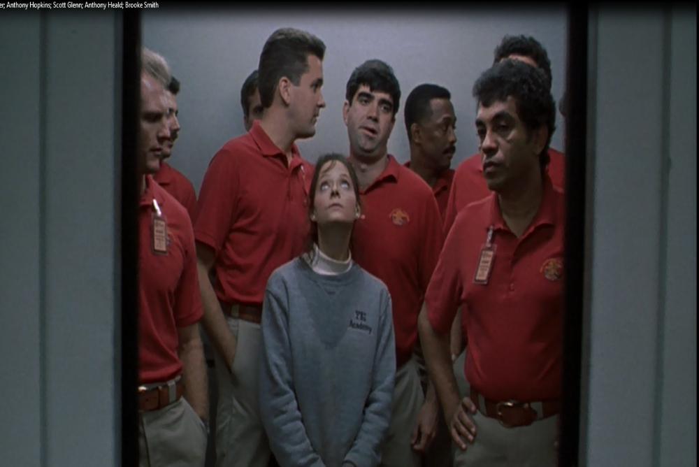 2. Clarice in the elevator