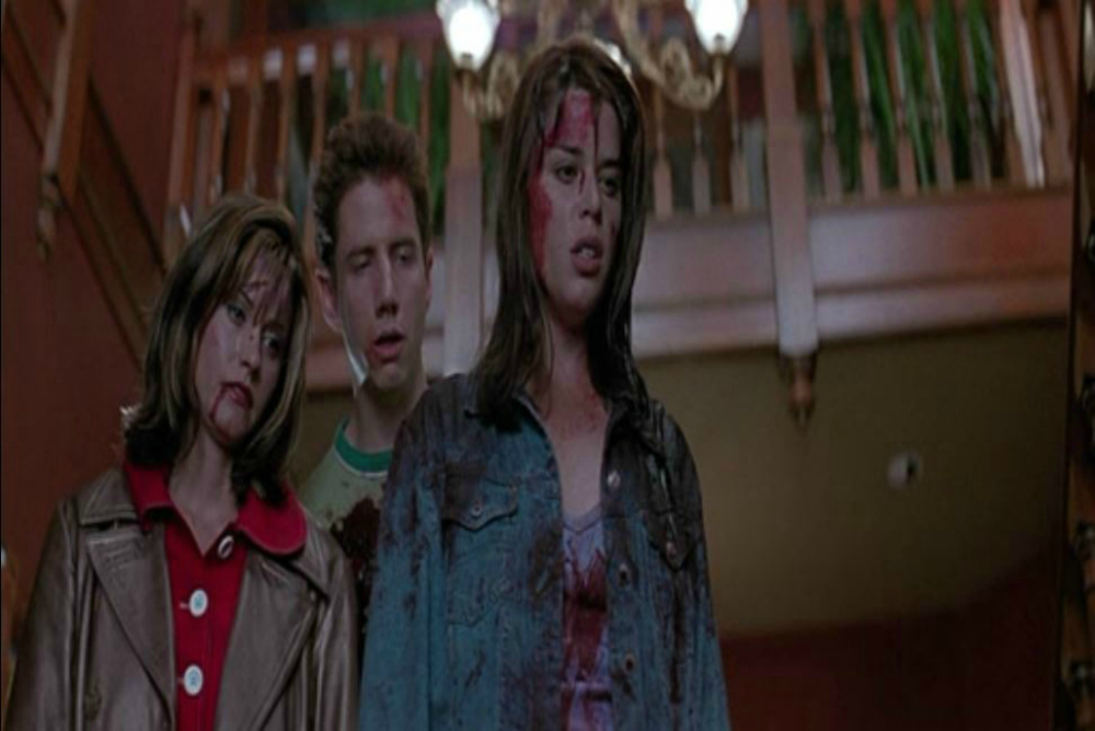 Gale, Randy, and Sidney near the end of Scream