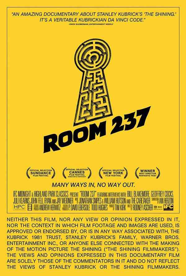 Horror Society: New One Sheet for Room 237   www.horrorsociety.com