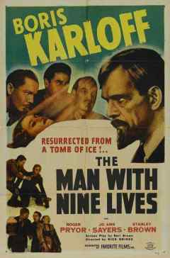 The Man With Nine Lives movie poster