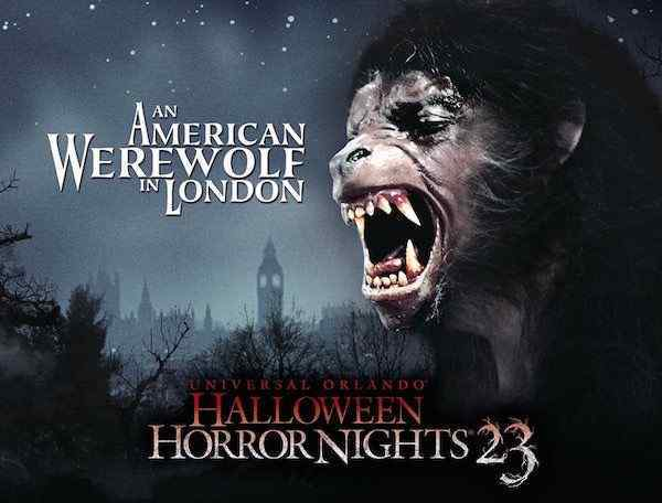 Halloween Horror Nights Orlando An American Werewolf in London poster
