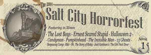 2014 Salt City Horror Fest front of ticket