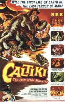 Caltiki, The Immortal Monster movie poster
