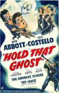 Hold that Ghost movie poster 2