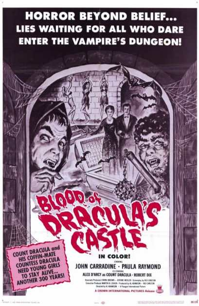 Blood of Dracula's Castle movie poster