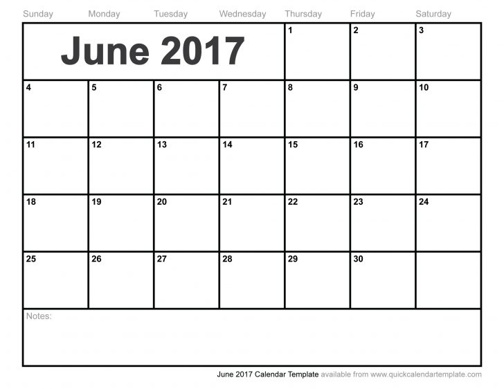 Free Calendar June 2017 Printable Template Holidays USA UK - free calendar printable