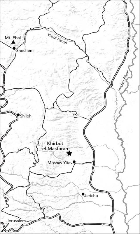 מפה:bibleplaces.com Khirbet el Mastarah